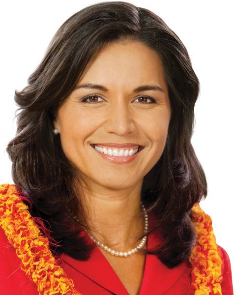 Tulsi Gabbard is the first Hindu American to be elected to Congress. She is taking the seat from Hawaii vacated by Mazie Hirono, the first Asian American woman to be elected Senator.