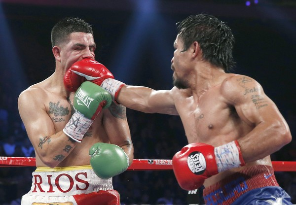 This image is the story of the night, and not how Brandon Rios wants to be immortalized.