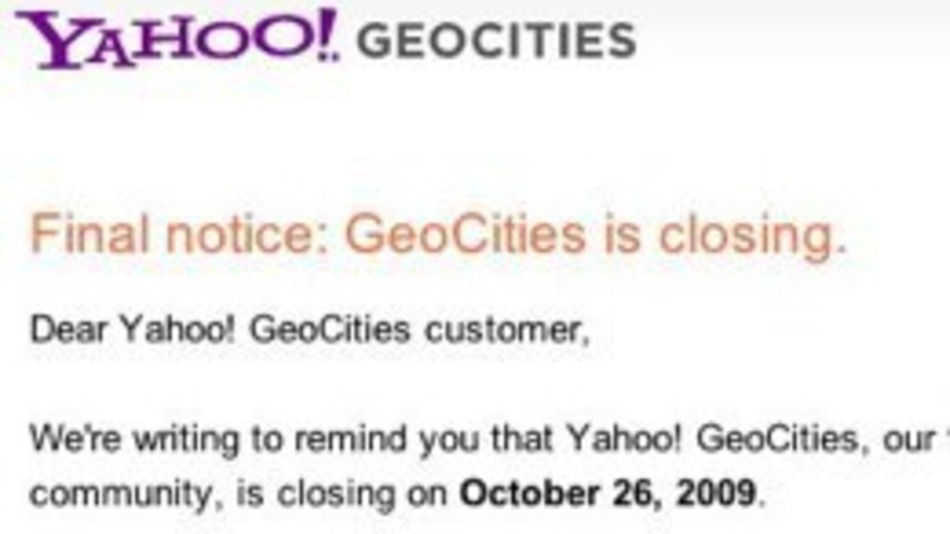 Ah, Geocities. You always remember your first.