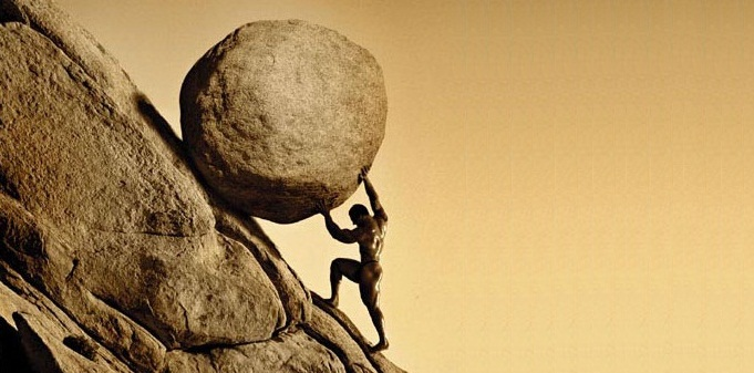Or is it a little bit like Sisyphus, eternally pushing a rock up a hill only to find it roll back down again?
