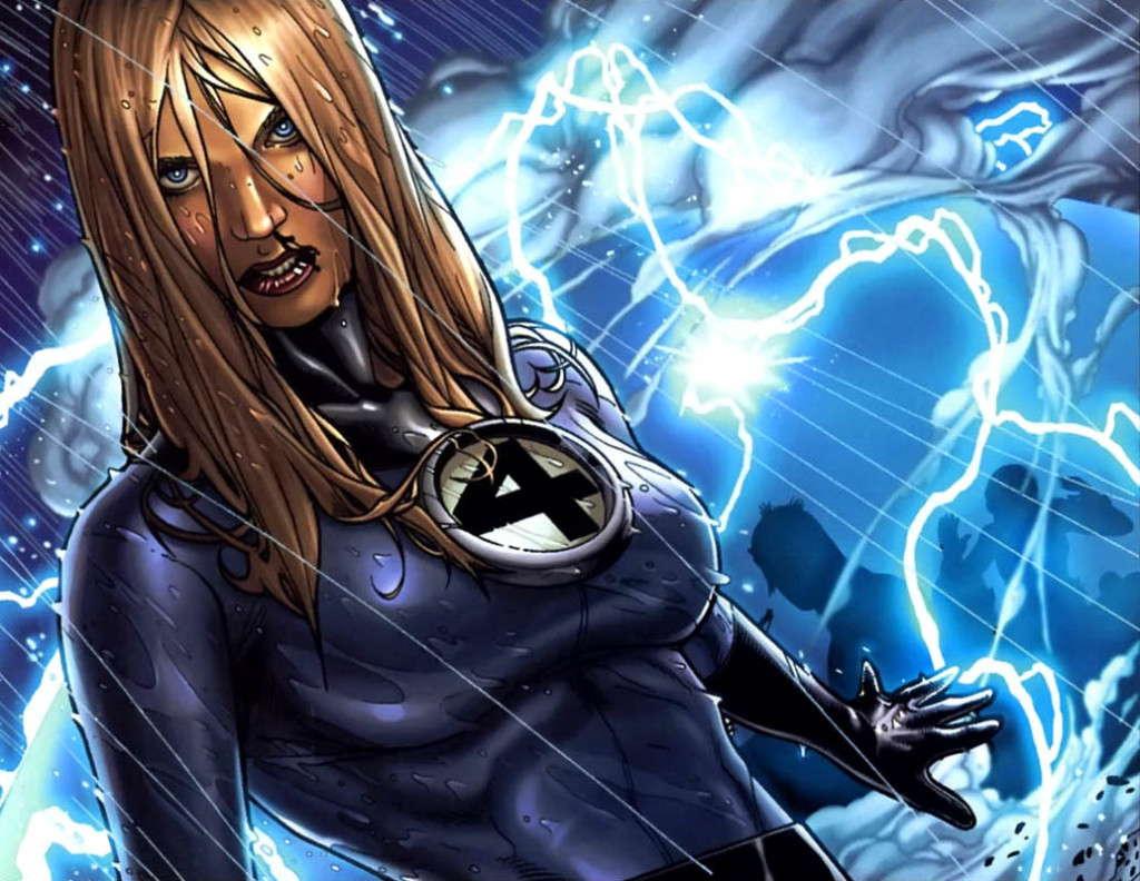 Sue Storm, as she appears in the comics.