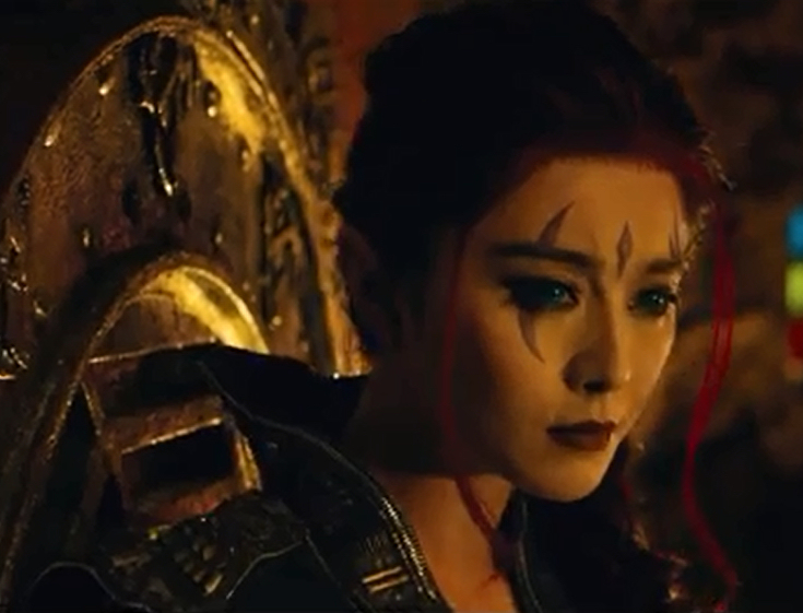 Bing FanFan as Blink in X-Men: Days of Future Past. My guess is her race as an Asian woman will be a pretty much blink-and-you'll-miss-it situation.