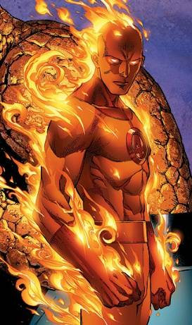 Johnny Storm as The Human Torch.