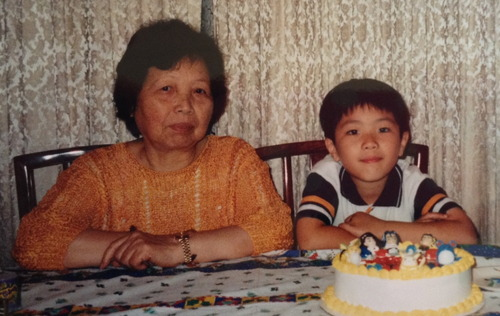 Submitter Nicholas Chan and his grandmother (photo credit: Mother of all Stories)