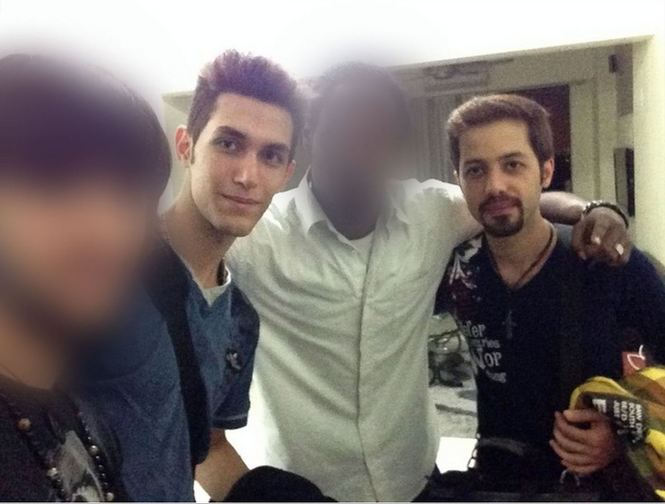 According to a CNN iReporter, missing passengers Pouri Nourmohammadi, 18, and elavar Seyed Mohammad Reza, 29 -- the two passengers flying on forged passports -- took this picture with their roommates in Kuala Lumpur moments before boarding MH370. Photo Credit: CNN/iReport