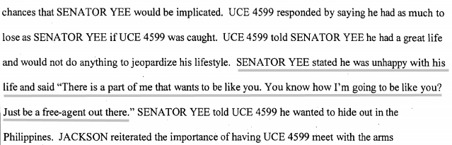 This is possibly the saddest part of the entire affidavit.