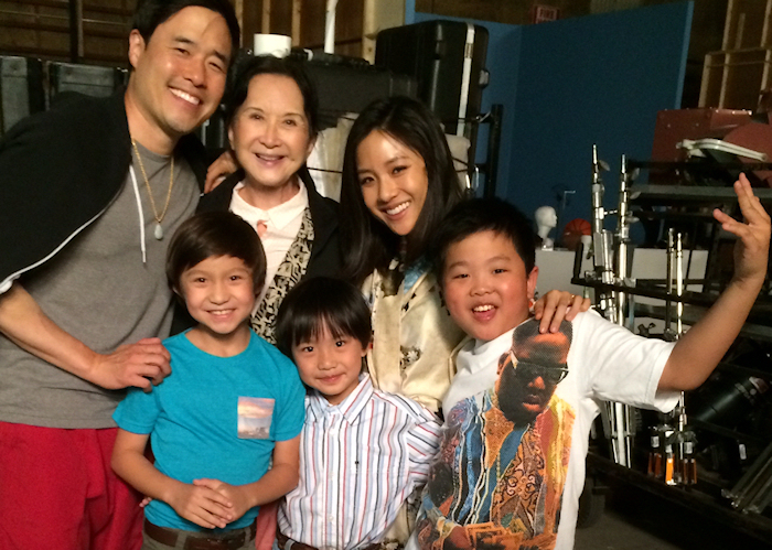 "The cast of ""Fresh Off the Boat"". (Photo credit: Jeff Yang)"
