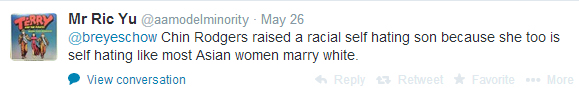 This isn't direct at me, but at Elliot Rodger's mother. She is a sellout because she married interracially.