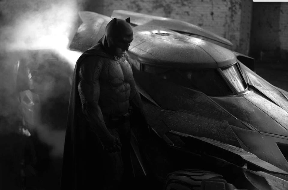 First look at Ben Affleck as Batman in Man of Steel 2. Photo credit: Zack Snyder