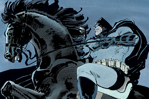 Batman as he appeared in Frank Miller's Dark Knight Returns.