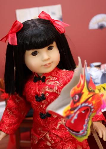 American Girl's Ivy Ling doll, which is the doll line's only Asian American doll and which is being discontinued.