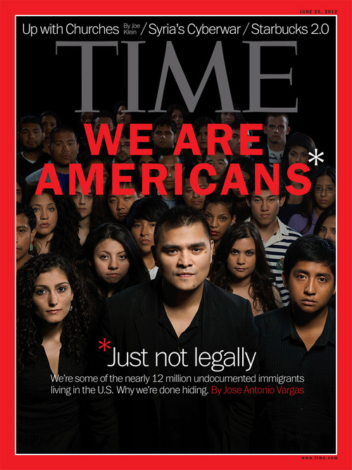 Jose Antonio Vargas takes center-stage on a 2012 Time Magazine cover.
