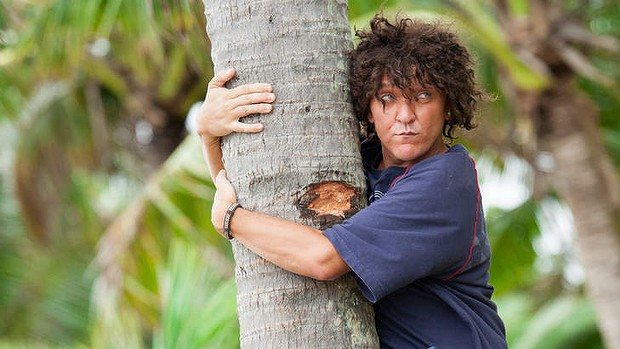 Australian comedian Chris Lilley portrays Jonah Takalua, here while still living in Tonga.