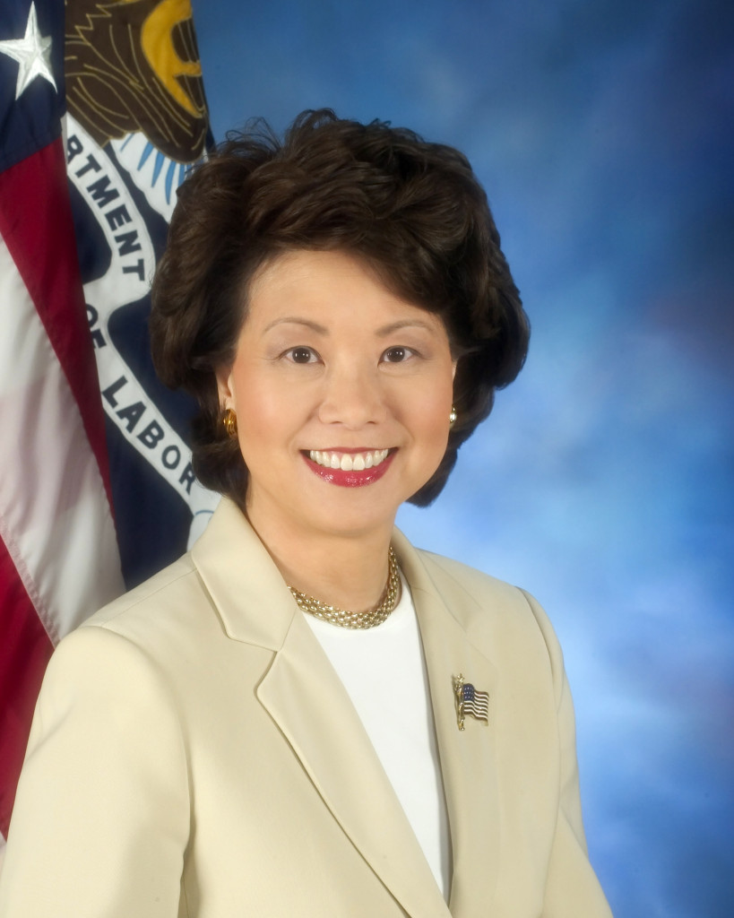 Former Secretary of Labor Elaine Chao.