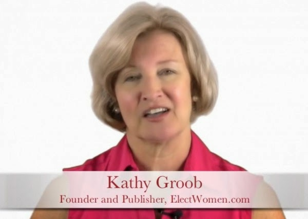 "This is Kathy Groob, founder of ElectWomen and author of ""Pink Politics""."