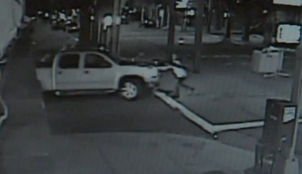 Surveillance camera footage showing Sandeep Singh moments before he is struck and dragged by a white pick-up truck in Queens. Moments earlier, the driver of the truck had hurled a racial slur at Singh and his friend as they stood in the street.