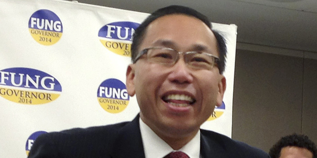 Allan Fung, Rhode Island's first Asian American mayor, announces his gubernatorial campaign in 2013. (Photo credit: AP Photo/Michelle R. Smith)