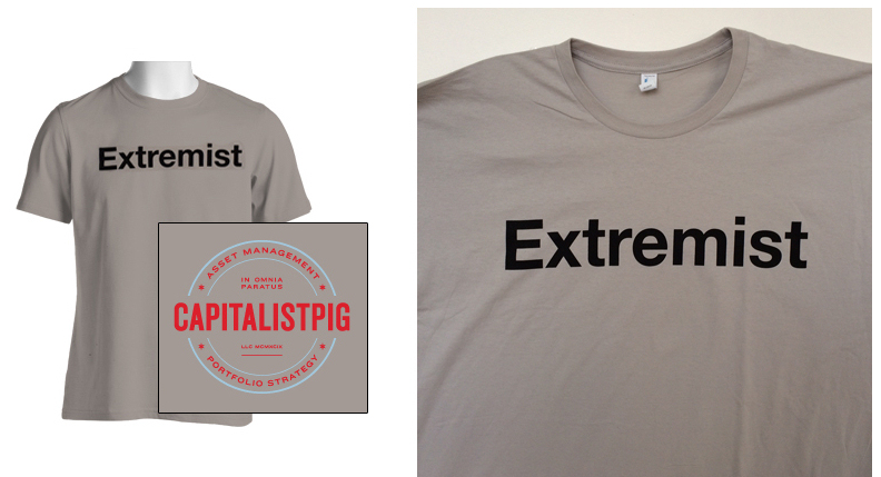 Hoenig even sells a t-shirt for the proud extremist.