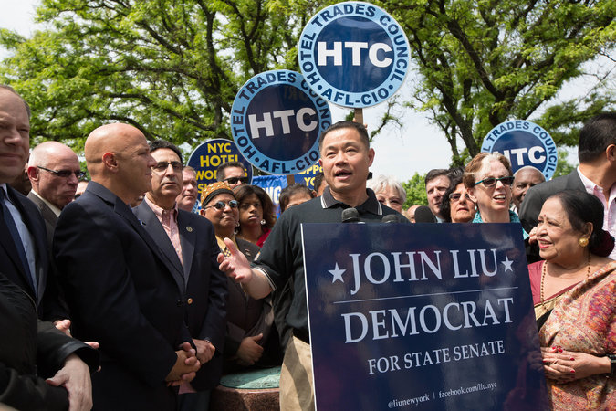 John Liu is many things, including an establishment Democrat. (Photo credit: photo: Uli Seit/NY Times)