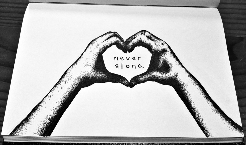 Print by artist Mikaela Jane for 2012's World Suicide Prevention Day.