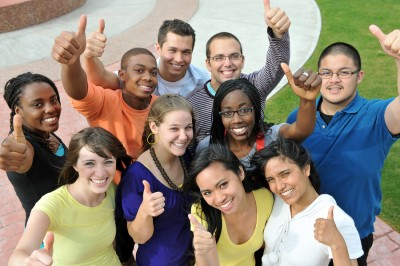 "There are a lot of really cheesy stock photos that come up when you Google ""campus diversity""."