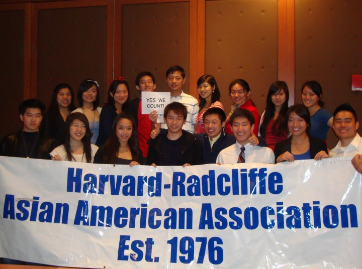 Members of the Harvard-Radcliffe Asian American Association.