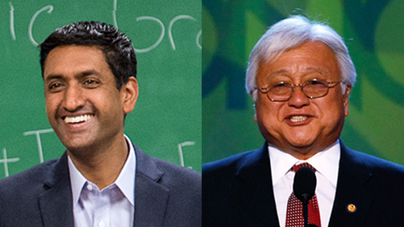 Ro Khanna and Mike Honda are squaring off in California's 17th District today.