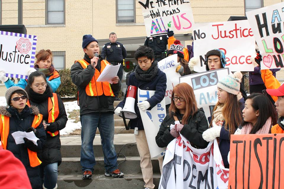 Residents of Wisconsin rally in support of Justice for Sao Vang and social justice for all Hmong Americans.