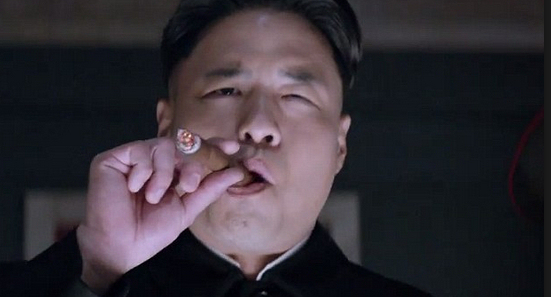 "Randall Park as Kim Jong-Un in ""The Interview""."
