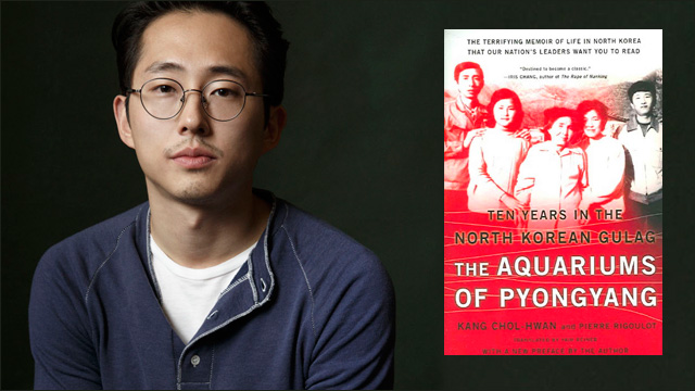 "Steve Yeun recently announced his plans to direct and star in a film adaptation of ""The Aquariums of Pyongyang"". (Photo credit: Angry Asian Man)"