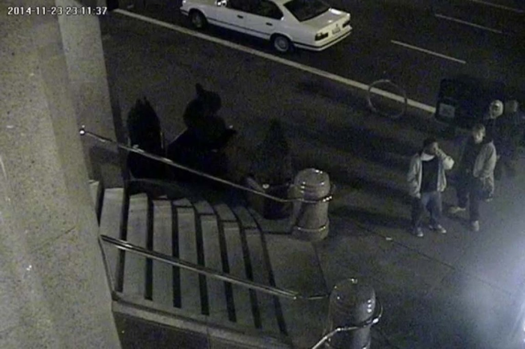 SFPD are seeking the public's help in identifying the three men picture on the right of this footage; they are suspected of kicking 67-year-old Tai Lam to death on November 23rd.
