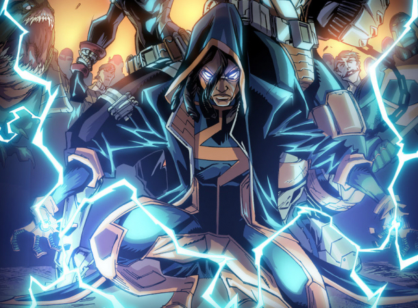 Dwayne McDuffie's character, Static Shock.