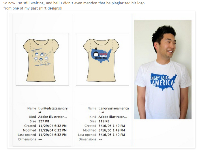 BTW, I've screen-capped this, and doing so also falls under fair use, since I am referring to the t-shirts in question.