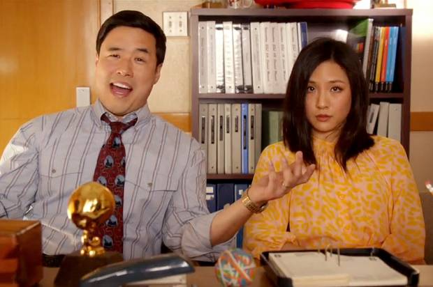 Randall Park and Constance Wu play the Huangs in ABC's Fresh Off The Boat.