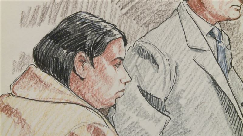 A court sketch of Purvi Patel, who was sentenced today after a court found her guilty of feticide and child neglect in the death of her fetus.