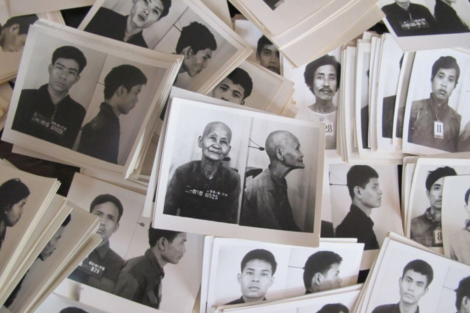 Photos of some of the 2 million victims of the Khmer Rouge. (Photo credit: Reuters/Claire Slatterly)