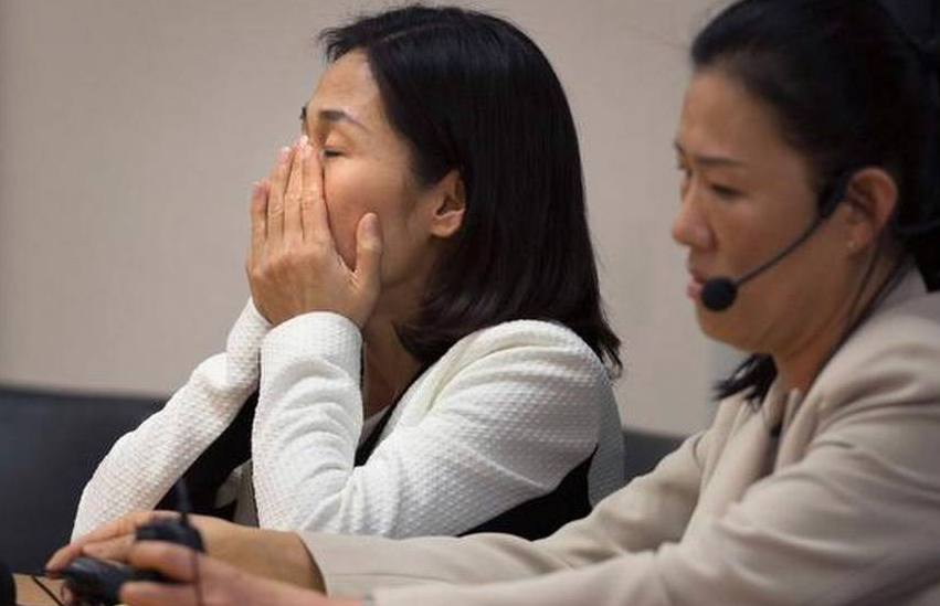Nan-Hui Jo reacts to the guilty verdict in her trial last month. (Photo credit: Randy Pench / Sacramento Bee)