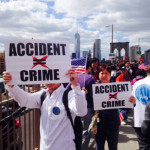 Anti-Indictment Rallies for NYPD Officer Peter Liang Draw Smaller Than Expected Crowd in NYC