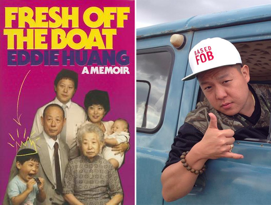 "Eddie Huang, and the cover of his memoir ""Fresh Off The Boat"""