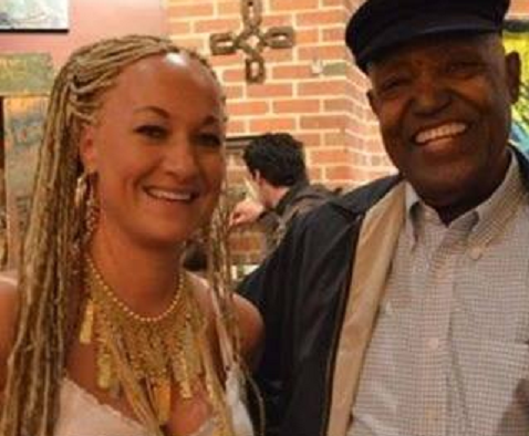 Rachel Dolezal and a man she presented as her father.