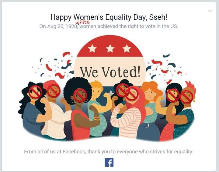 Facebook user Hess Stinson edited her banner from Facebook to make it more historically accurate.