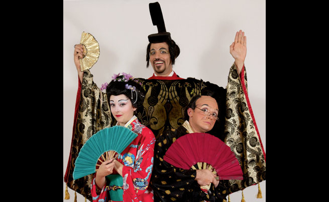"Promotional image of ""The Mikado"" from an earlier performance by NYGASP."