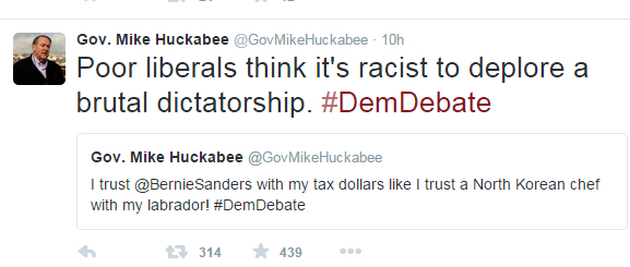 huckabee-tweet-brutal-dictatorship