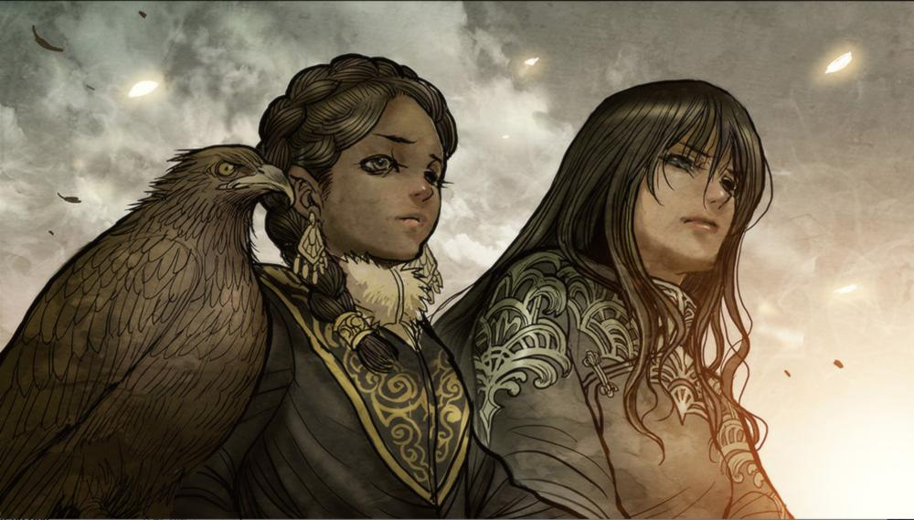 A panel from Monstress, by Marjorie Liu, published by Image Comics.