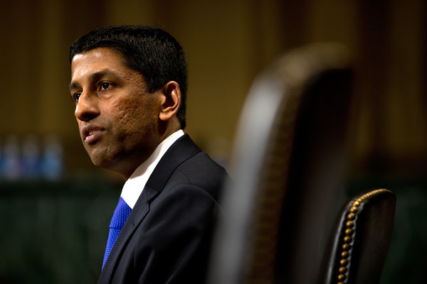 Judge Sri Srinivasan, in a picture from his federal nomination process in 2013. (Photo Credit: Doug Mills / New York Times)
