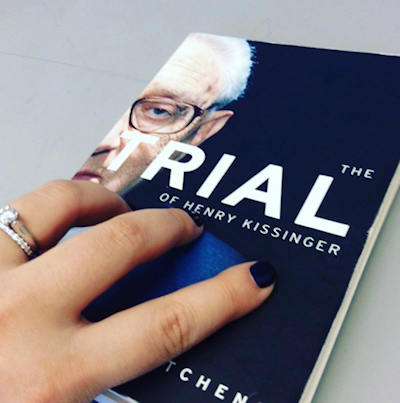 "My copy of ""The Trial of Henry Kissinger"". (Photo credit: Reappropriate)"