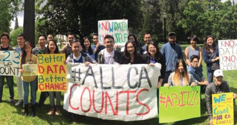 Protesters rally behind #AllCACounts (Photo Credit: SEARAC)