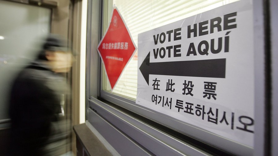A voter enters a Chinatown polling place in 2006. (Photo credit: Getty)