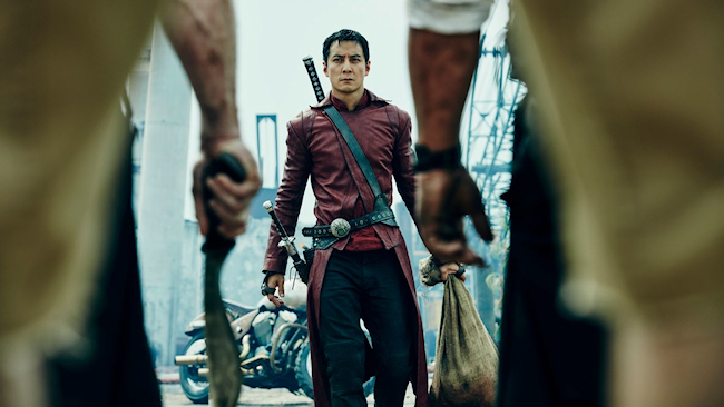 "Daniel Wu of AMC's ""Into the Badlands"". (Photo Credit: AMC)"