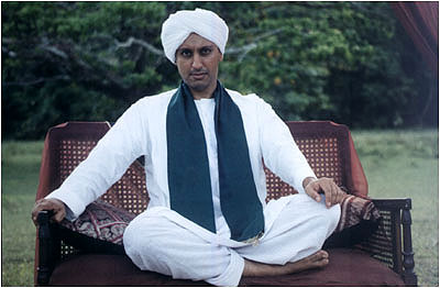 Aasif Mandvi in the Mystic Masseur.